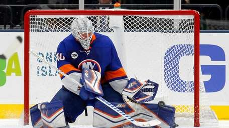 Robin Lehner #40 of the New York Islanders