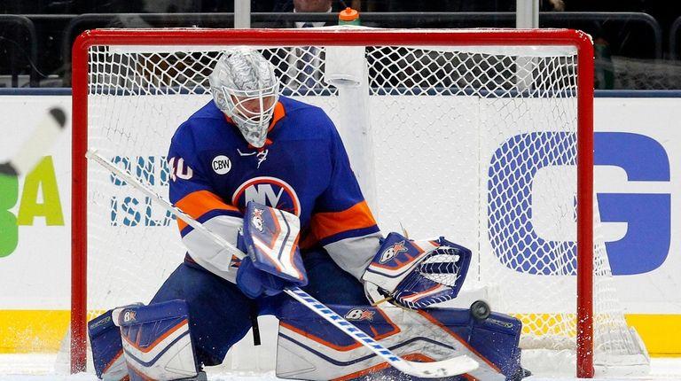 Robin Lehner 40 Of The New York Islanders