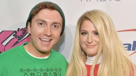 Daryl Sabara and Meghan Trainor attend KISS 108's