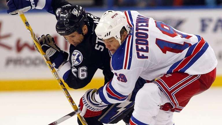 The Lightning's Martin St. Louis, and the Rangers'