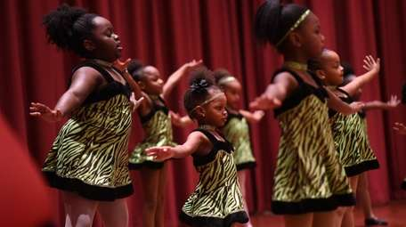 Young dancers from Dance X-plosion perform during a