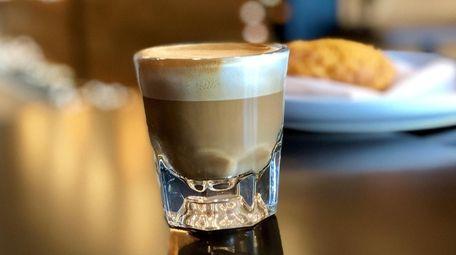 A cortado is served at Kookaburra Coffee Co.