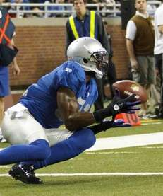 Detroit Lions wide receiver Calvin Johnson catches a