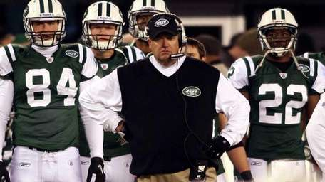 Rex Ryan looks on from the sidelines as