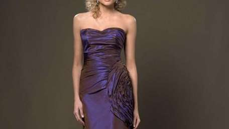 Caption: This Paula Varsalona strapless dress is featured