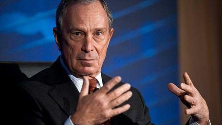 New York mayor Michael Bloomberg addresses the Wall