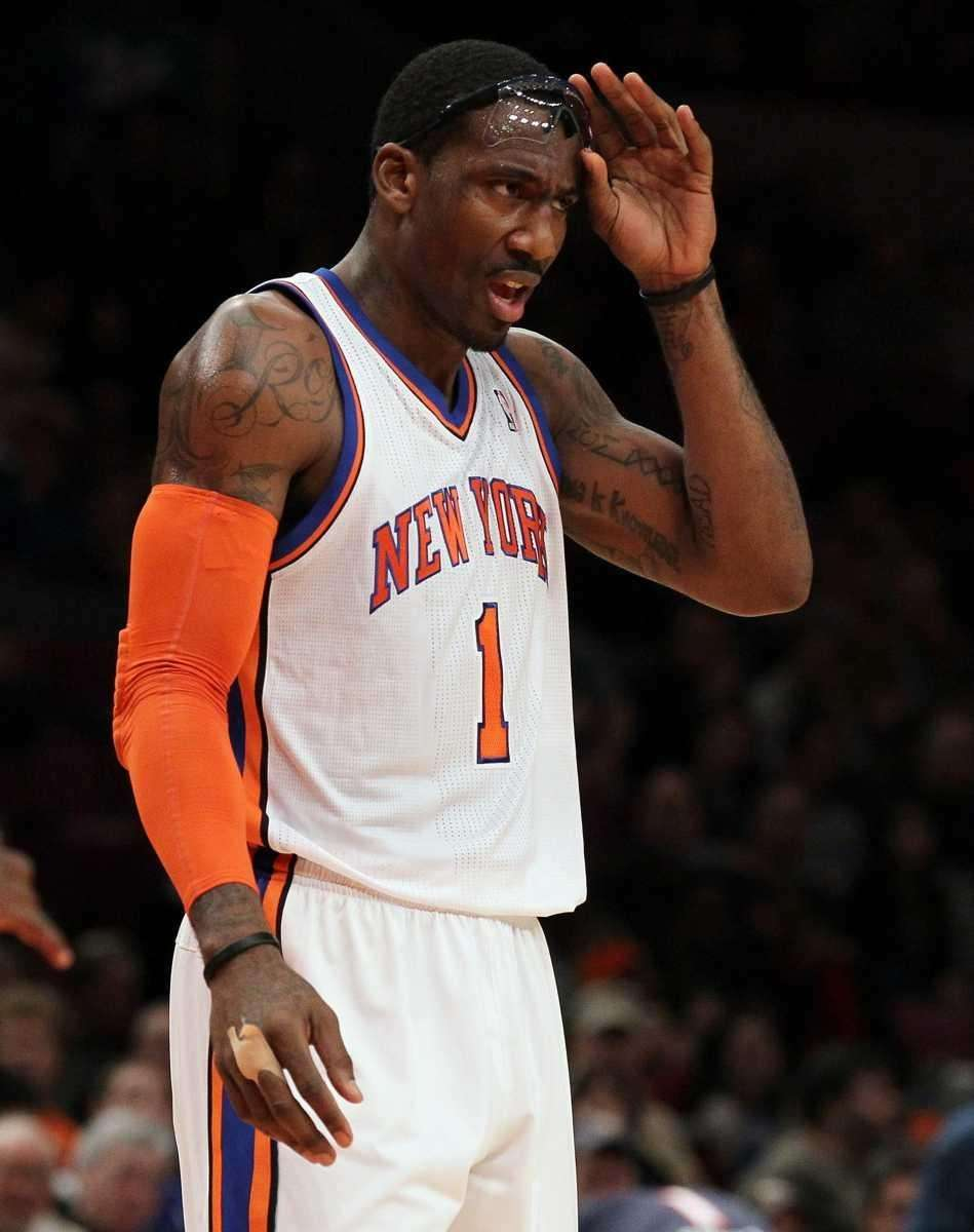 Amar'e Stoudemire of the New York Knicks looks