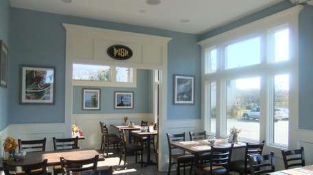Dining room at The Fish Store, Bayport
