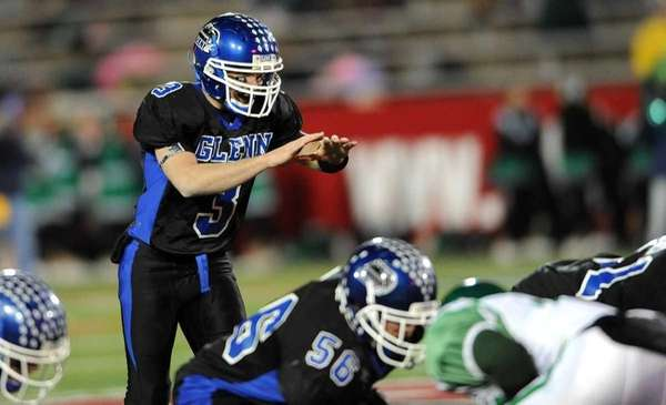 Glenn quarterback Ryan Rielly calls a play against