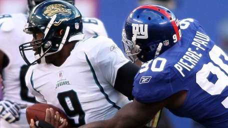 Giants defensive end Jason Pierre-Paul strip-sacks Jacksonville's David
