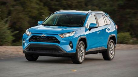 The 2019 Toyota Rav4 sports an aggressive but
