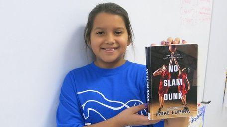 Kidsday reporter Miriam Conde of Jericho Elementary School,