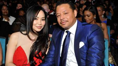 Mira Pak and Terrence Howard attend the 2014