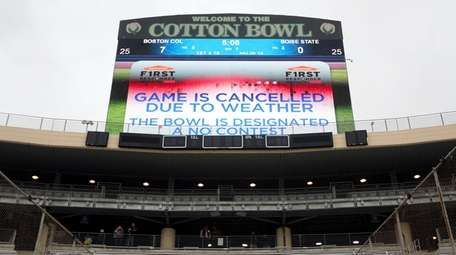 The First Responder Bowl between Boston College and
