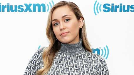 Singer Miley Cyrus visits the SiriusXM Studios on
