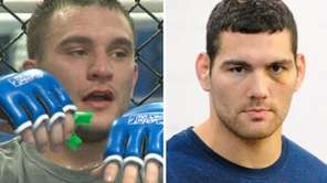 Levittown's Gian Villante, left, and Baldwin's Chris Weidman