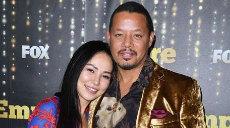 Mira Pak and Terrence Howard attend the season