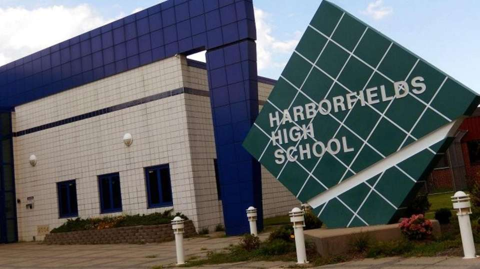 Harborfields High School in Greenlawn is shown on