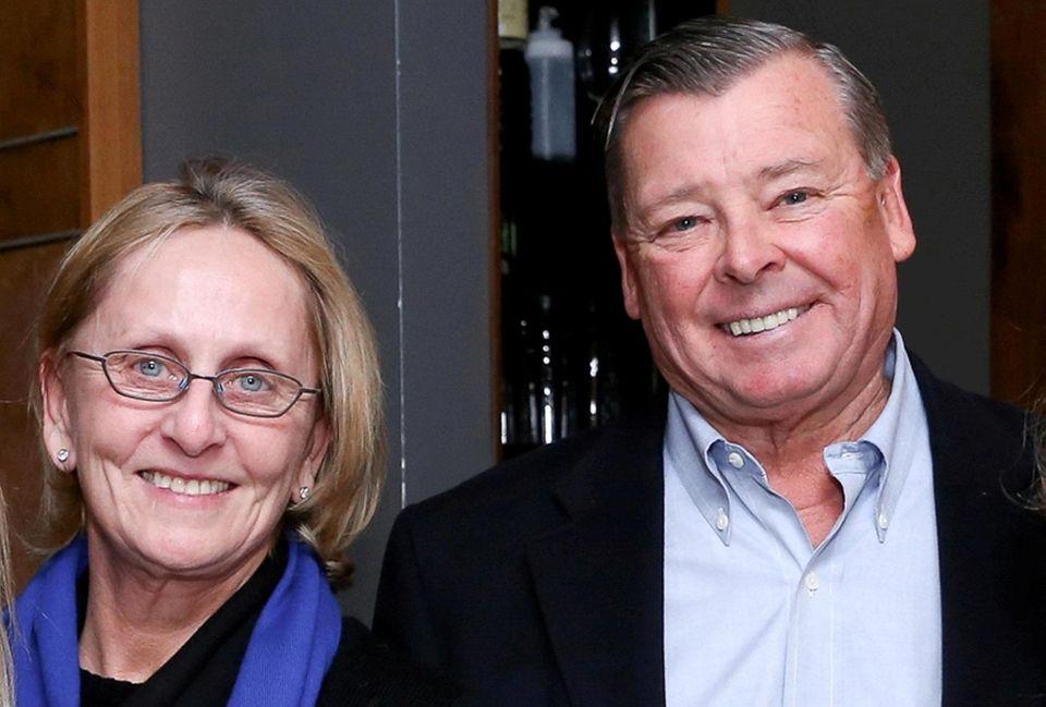 Bonnie Krupinski and her husband, Ben, at an