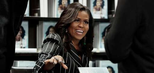 Former first lady Michelle Obama at a book
