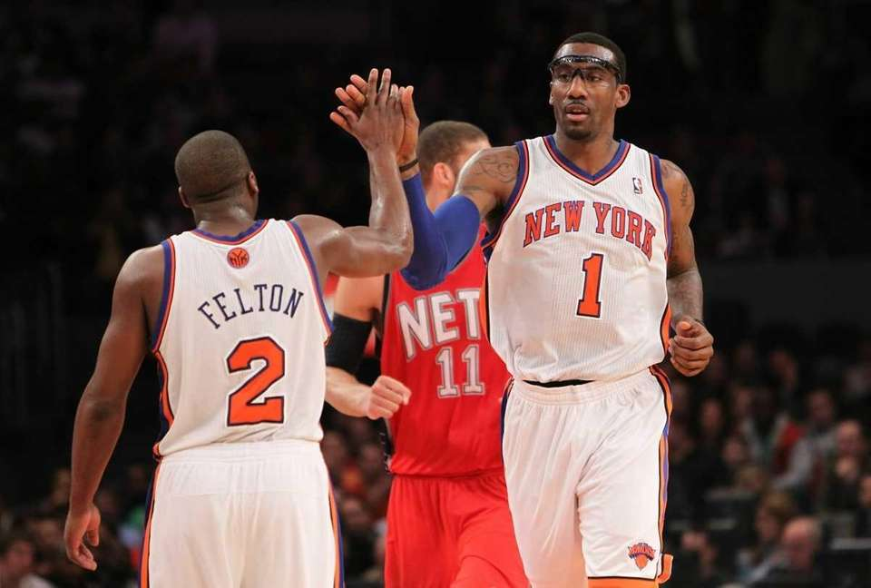 Amar'e Stoudemire of the New York Knicks high