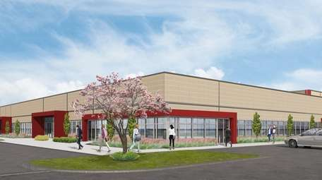 Rendering of an Rechler Equity Partners industrial building