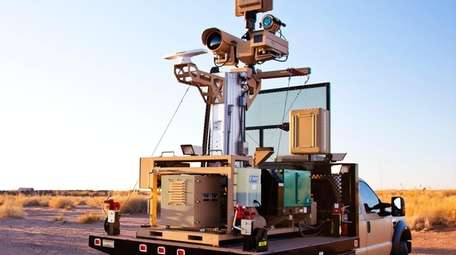 Made by LI-based Telephonics Corp., the truck-mounted RaVEN-M