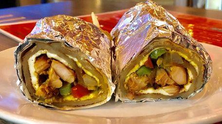 The unda chicken kati roll at Currikitch in