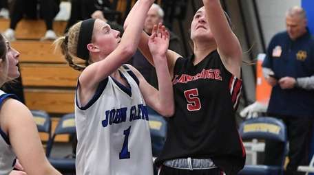 Plainedge guard Emily Tierney shoots for a basket