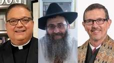 From left, the Rev. Msgr. James Vlaun, Rabbi