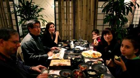 Patrons dine at the Imperial Seoul restaurant in
