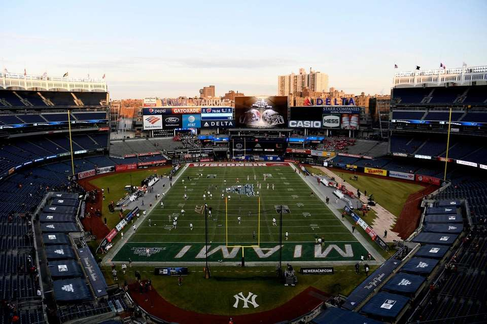 A general view during the pregame warmups at