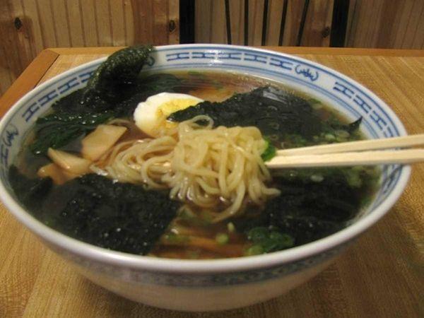 A big bowl of ramen noodles at Koiso
