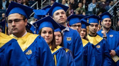 At Hofstra University's midyear commencement, 564 undergraduates, 632