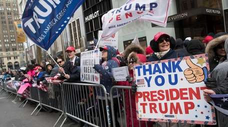 Supporters of President Donald Trump take part in