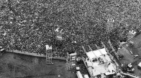 The Woodstock music festival in August 1969 drew