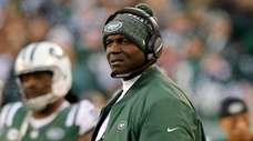 Todd Bowles of the Jets looks on during