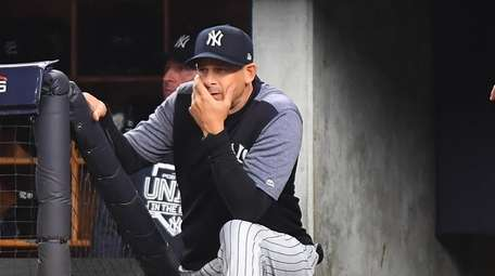 Aaron Boone wasn't pleased after three-run double in