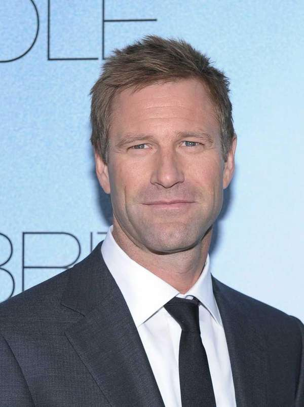 "Actor Aaron Eckhart attends the premiere of ""Rabbit"