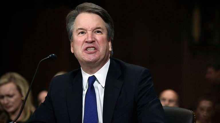 Supreme Court nominee Brett Kavanaugh speaks before the
