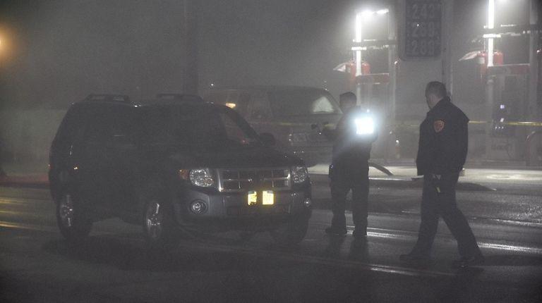 Police at the scene on Suffolk Avenue near