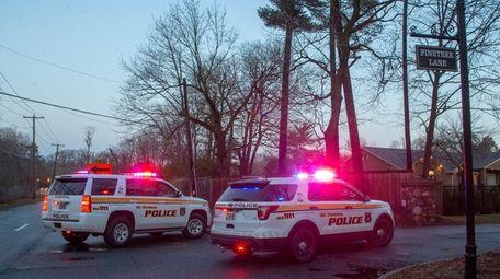 Old Westbury Village police investigate on Pinetree Lane