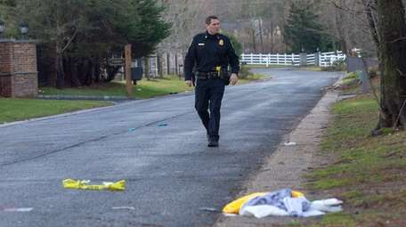 Police investigate on Pinetree Lane in Old Westbury