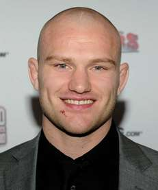 UFC fighter Martin Kampmann arrives at the second
