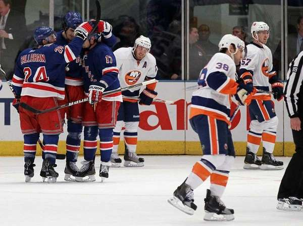 Brian Boyle of the New York Rangers celebrates