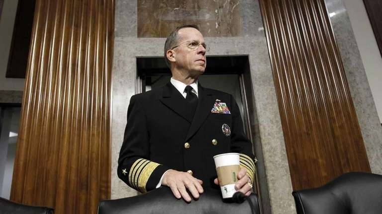 Joint Chiefs Chairman Adm. Michael Mullen pauses on