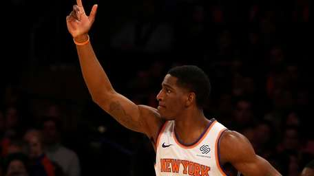 Damyean Dotson #21 of the New York Knicks