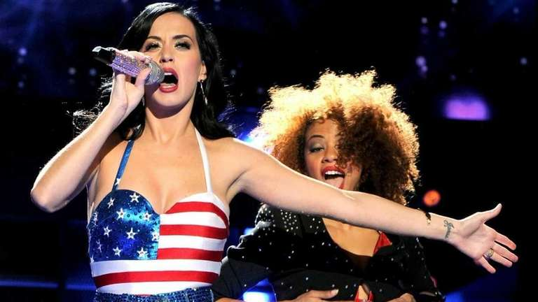 Singer Katy Perry performs during