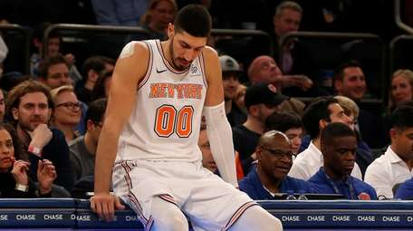Enes Kanter #00 of the New York Knicks