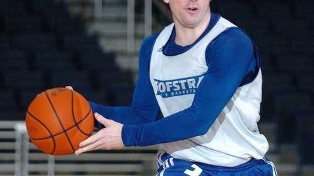 Hofstra University guard Brad Kelleher looks to make